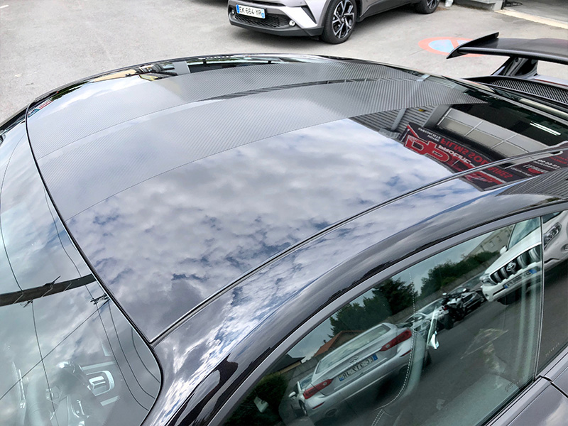 Porsche GT3 – Film de protection carrosserie complet et covering en carbone